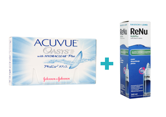 Acuvue Oasys with Hydraclear Plus (6 buc)+ Renu multiplus (360 ml)